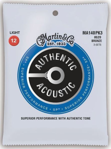 3 Pack Martin Authentic Acoustic SP Bronze