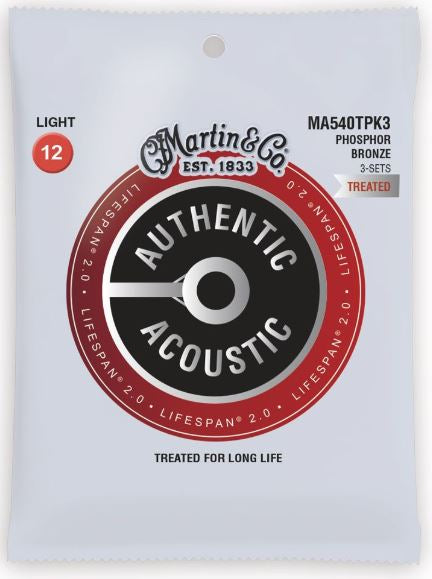 3 Pack Martin Authentic Acoustic SP Treated Phos