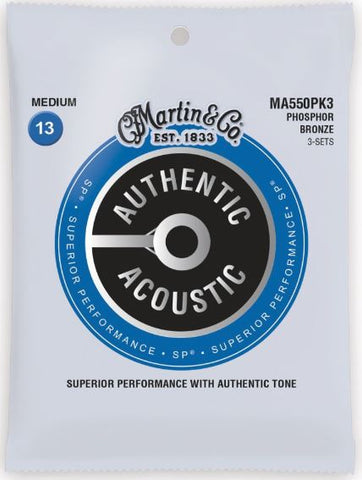 3 Pack Martin Authentic Acoustic SP Phosphor