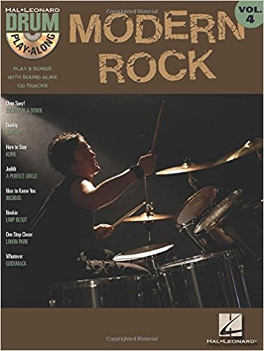 Modern Rock Drum Play Along Bk/Cd Bk 4
