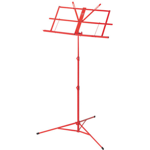 Music Stand Foldable Red