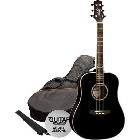 Ashton Acoustic Gtr Pack Black D25