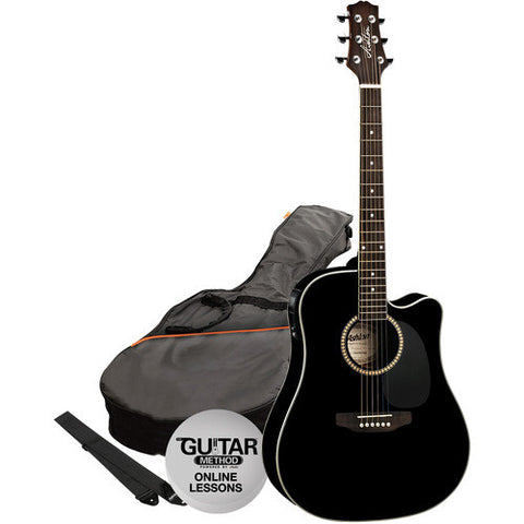 Acoustic/Electric Gtr Pack W/C-Ay Black