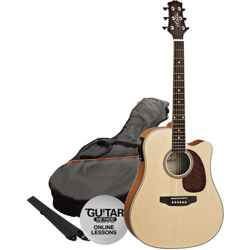 Acoustic/Electric Gtr Pack W/C-Ay Natural Matte
