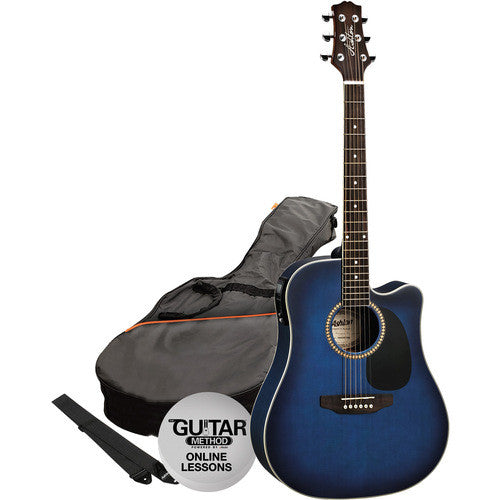 Acoustic/Electric Gtr Pack W/C-Ay Trans Blue