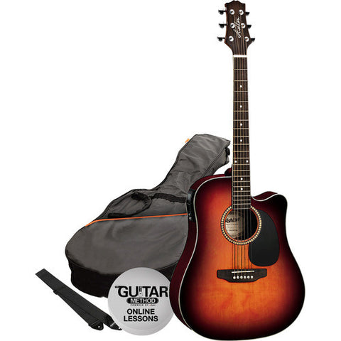 Acoustic/Electric Gtr Pack W/C-Ay Sunburst
