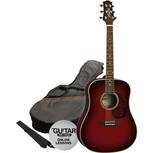 Acoustic Gtr Pack Wine Red D25