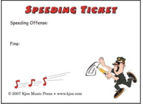 Speeding Ticket Post It Notes