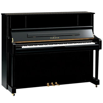 121Cm Upright Piano Polished Ebony