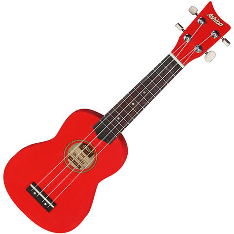 Ashton Soprano Ukulele Red