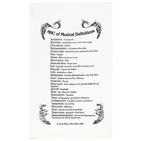 Abc Of Music Definitions Tea Towel