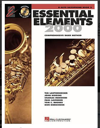 Essential Elements 2000 Bk 2 Alto Sax Bk/Cd