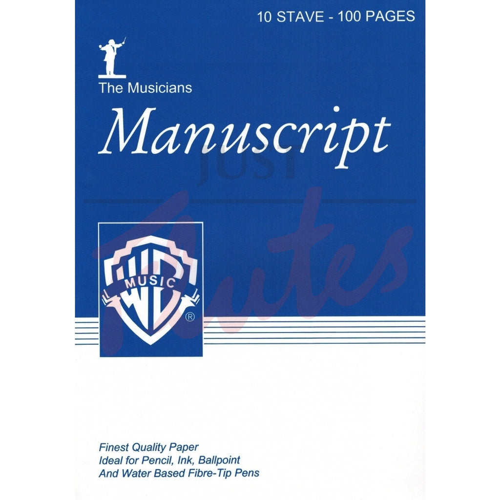 Manuscript A4 10 Stave 100Pp White Pad