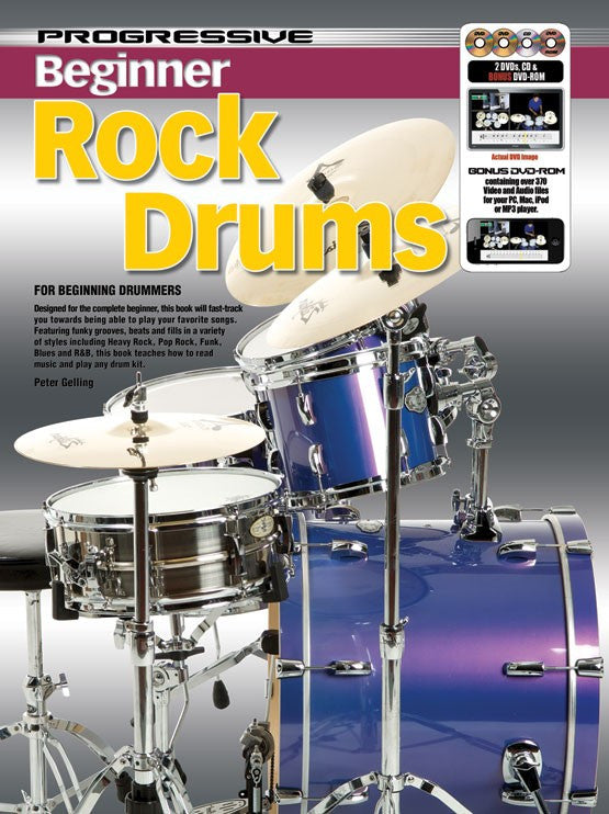 Progressive Beginner Rock Drums Pack