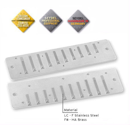 Reed Plate Set For Session Steel / Standard -G