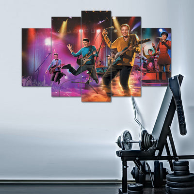 "Star Trek ""The Good Ol Days"" - 5 Piece Canvas Painting-Canvas-TEEPEAT"