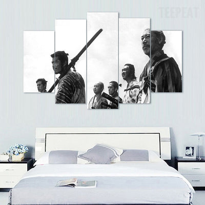 Samurai V2 Painting - 5 Piece Canvas Painting-Canvas-TEEPEAT
