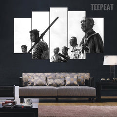 Samurai V2 Painting - 5 Piece Canvas Painting