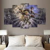 Kingdom Hearts V2 - 5 Piece Canvas Painting-Canvas-TEEPEAT