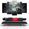 Lone Wolf Painting - 5 Piece Canvas-Canvas-TEEPEAT