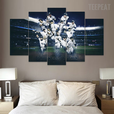 Farewell Captain - 5 Piece Canvas Painting-Canvas-TEEPEAT