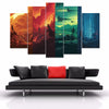 "Star Wars - ""4 Worlds"" - 5 Piece Canvas Painting-Canvas-TEEPEAT"