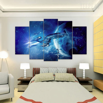 "Star Trek ""USS Enterprise"" - 5 Piece Canvas Painting-Canvas-TEEPEAT"