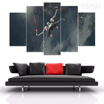 Star Wars: X Wing - 5 Piece Canvas Painting-Canvas-TEEPEAT