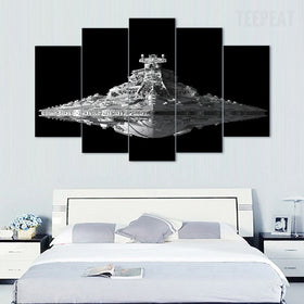USS Destroyer - 5 Piece Canvas Painting-Canvas-TEEPEAT