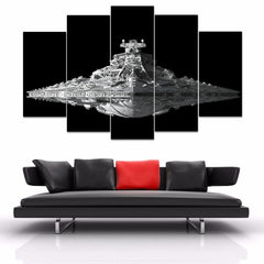 USS Destroyer - 5 Piece Canvas Painting