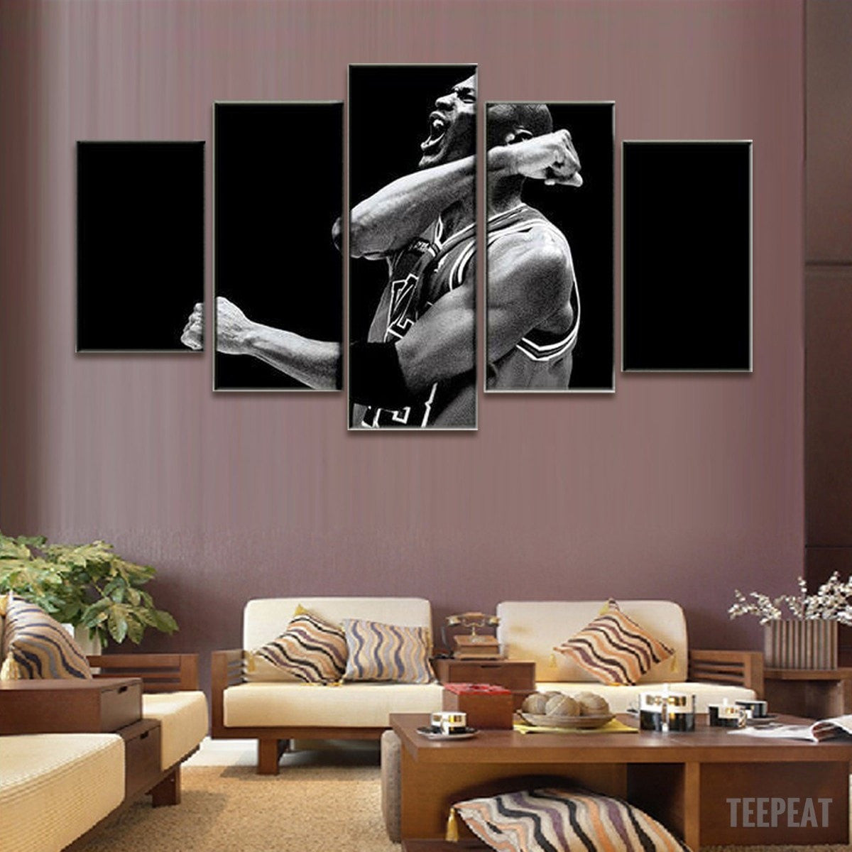 Limited Edition Champion - Michael Jordan - 5 Piece Canvas Painting