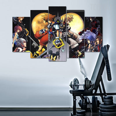 Kingdom Hearts - 5 Piece Canvas Painting-Canvas-TEEPEAT