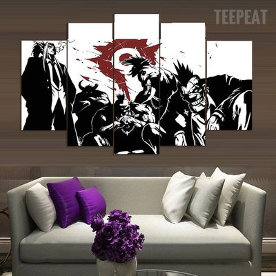 The Gang Painting - 5 Piece Canvas-Canvas-TEEPEAT