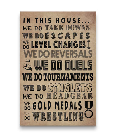 Wrestling Poem Canvas