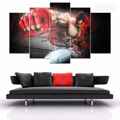 Street Fighter V3 - 5 Piece Canvas Painting-Canvas-TEEPEAT