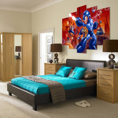Megaman Classic Edition - 5 Piece Canvas Painting-Canvas-TEEPEAT