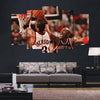 Iverson vs Jordan - 5 Piece Canvas Painting-Canvas-TEEPEAT