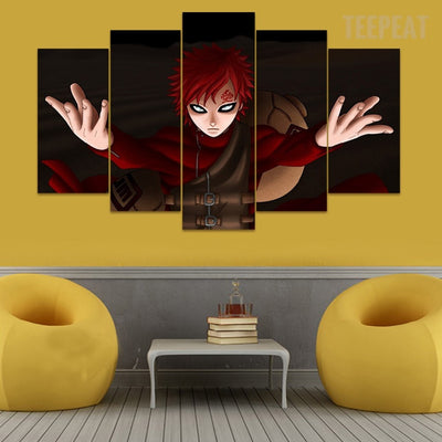 Naruto: Gaar - 5 Piece Canvas Painting-Canvas-TEEPEAT