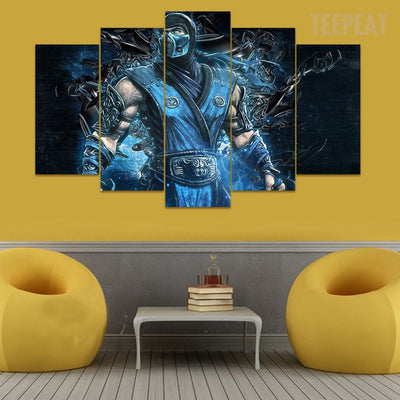 Mortal Kombat V5 - 5 Piece Canvas Painting-Canvas-TEEPEAT