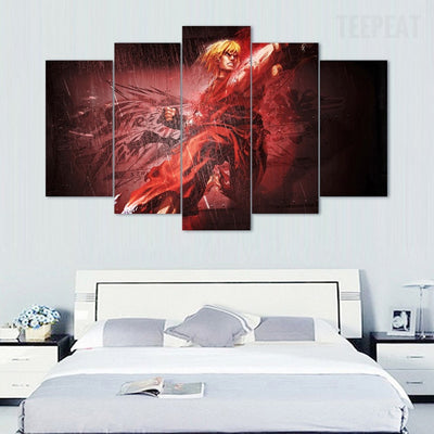 Street Fighter: Ken - 5 Piece Canvas Painting-Canvas-TEEPEAT