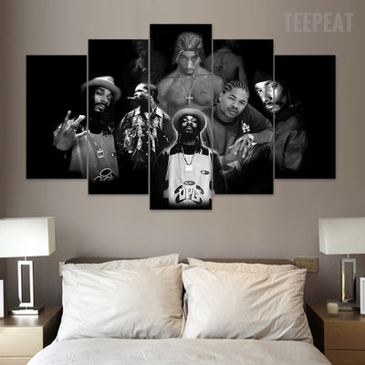 Rap Legends - 5 Piece Canvas Painting-Canvas-TEEPEAT