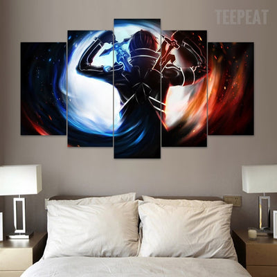 Sword Art Online - 5 Piece Canvas Painting-Canvas-TEEPEAT