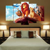 The Lion King - 5 Piece Canvas Painting-Canvas-TEEPEAT