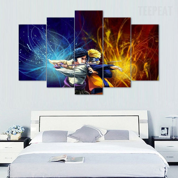 Sasuke Amp Naruto 5 Piece Canvas Painting Empire Prints