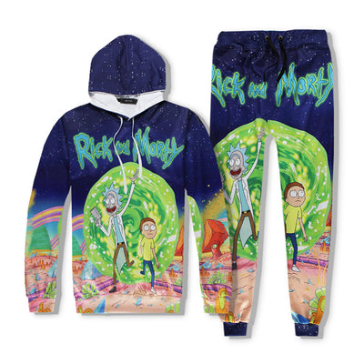 Rick And Morty Crazy World Sports Outfit SET