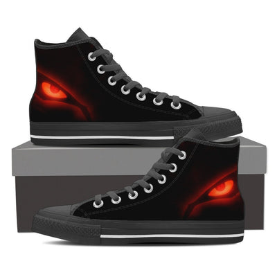 Naruto Kyuubi Eyes Men High Top Canvas Shoes