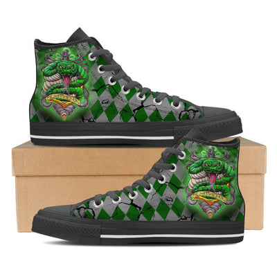 Slytherin Men High Top Canvas Shoes-Shoe-TEEPEAT