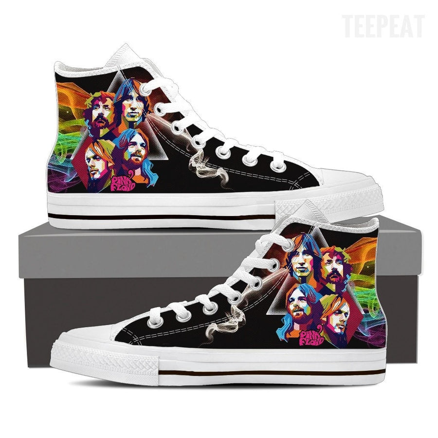 Pink Floyd High Top Canvas Shoes