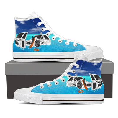 Star Wars Tie Fighter Summer Men High Top Canvas Shoes