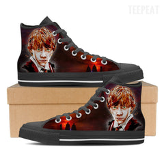 Ron W. Men High Top Canvas Shoes